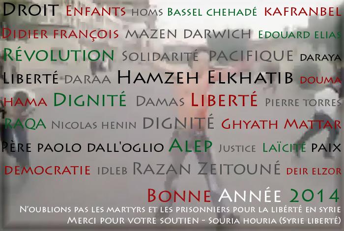 Syrie : Paix, Liberté, Justice et Santé pour 2014