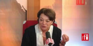 Hala Kodmani, journaliste franco-syrienne, fondatrice de l'association française Souria Houria (Syrie Liberté).