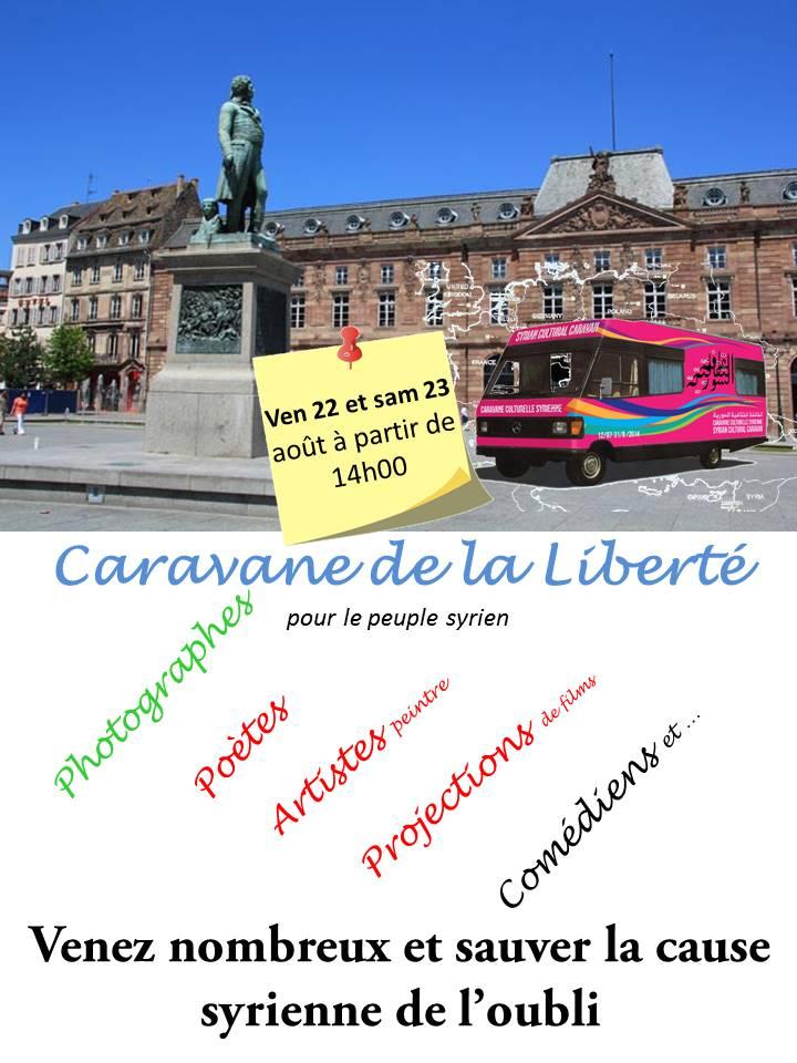 22 et 23 Aout 2014 Strasbourg : La Caravane Culturelle Syrienne