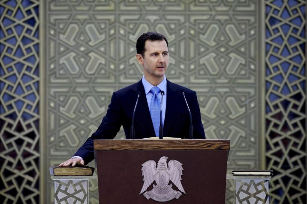 Sans mentionner spécifiquement les bombardements, le président syrien a déclaré qu'il soutenait « tout effort international antiterroriste ». | AP/Uncredited
