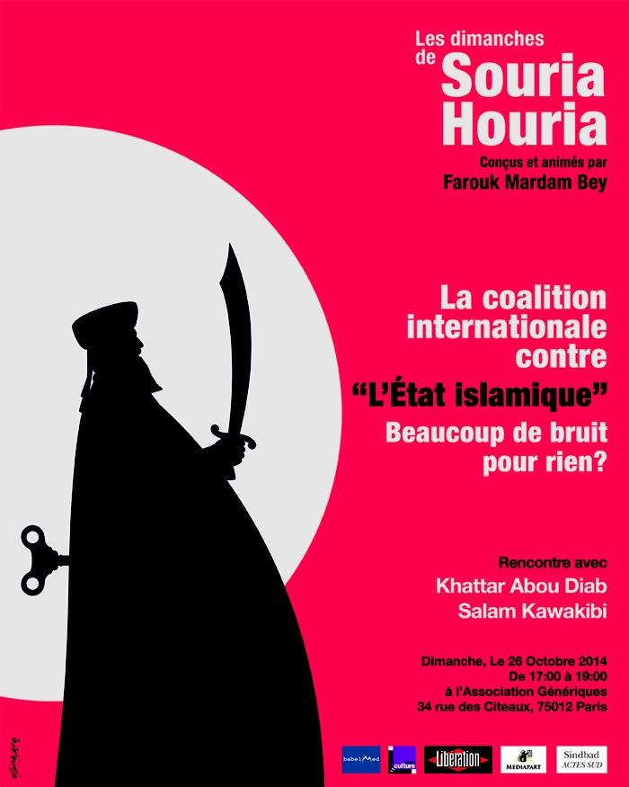 26/10/2014 Paris : Les Dimanches de Souria Houria – avec Khattar Abou Diab & Salam Kawakib par Farouk Mardam Bey