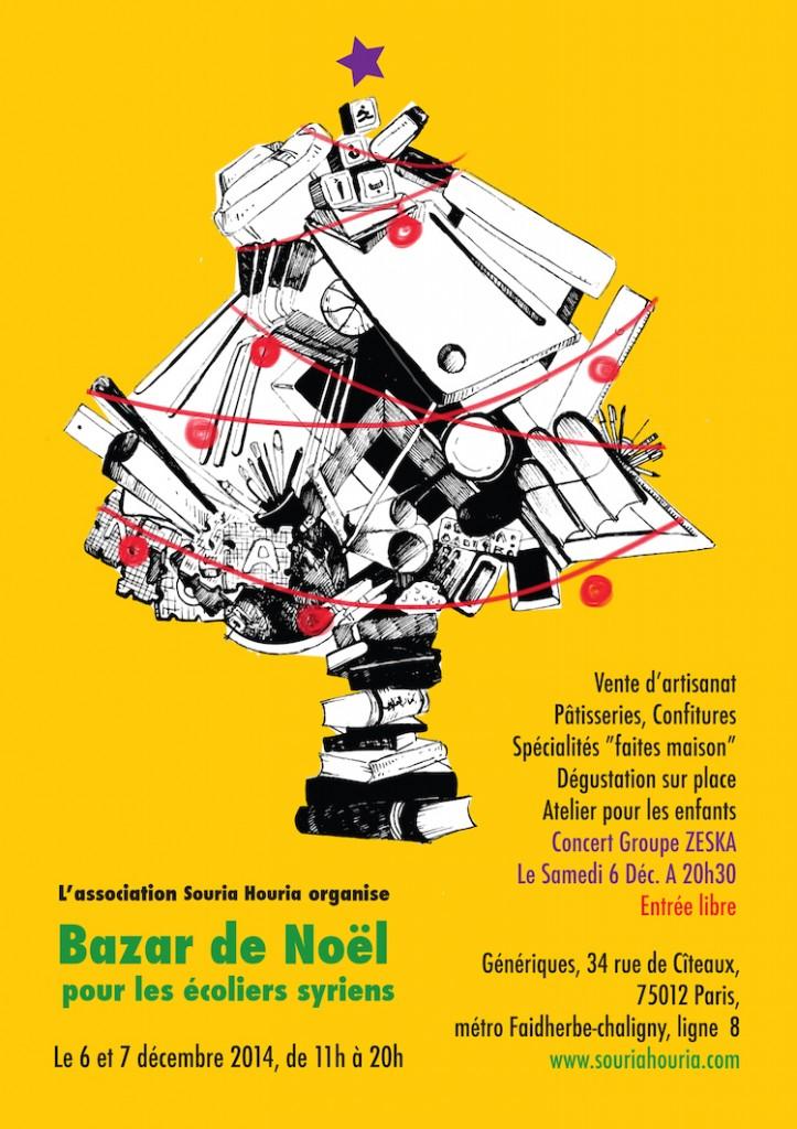 """6 & 7/12/2014 Paris : Bazar de Noël """"Pour les écoliers syriens"""""""