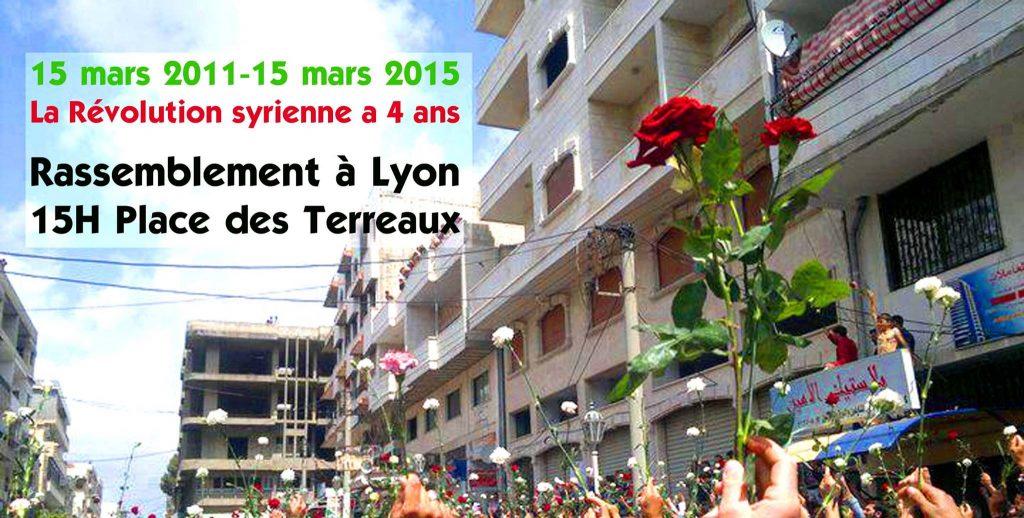 15/03/2015 Lyon : Rassemblement » Révolution Syrienne 4 ans»