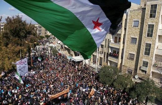 « Manifestation à Idlib », crédit photo « Syria Freedom »