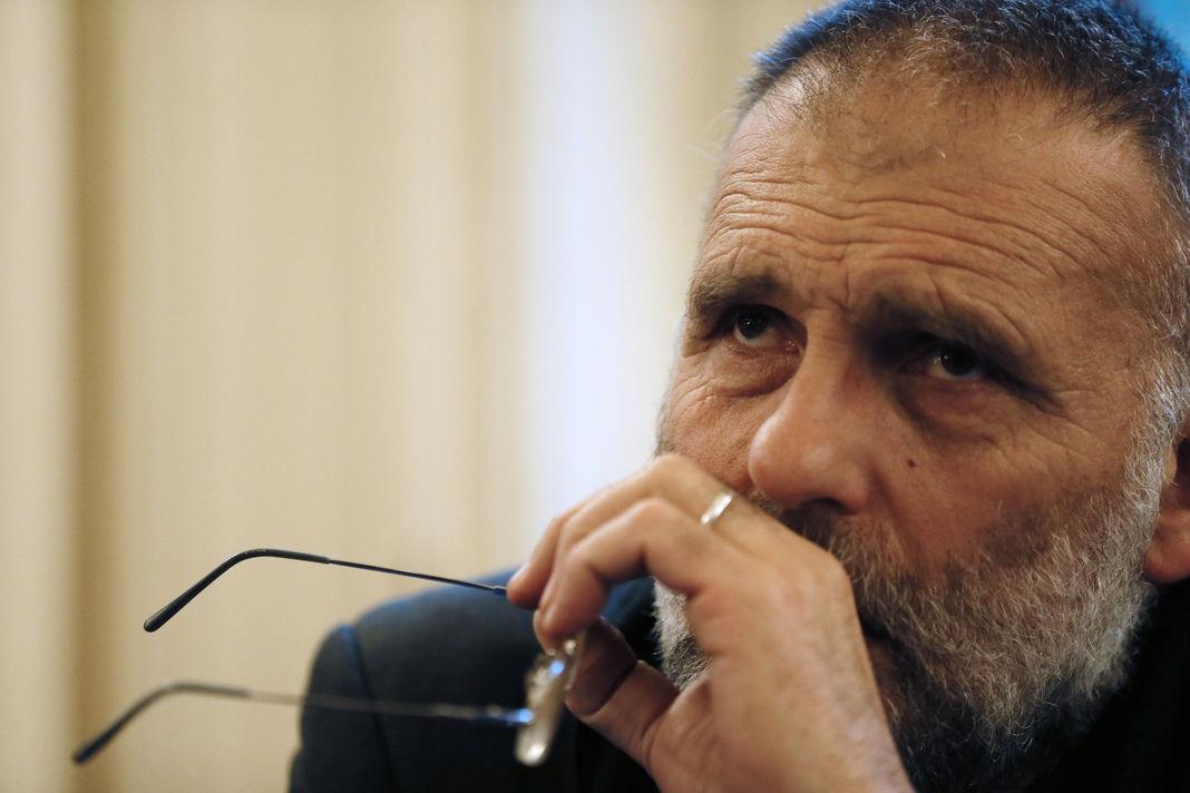 Paolo Dall'Oglio à Paris, en septembre 2012. Avant son enlèvement le 29 juillet 2013, le prêtre italien œuvrait pour le dialogue entre chrétiens et musulmans.