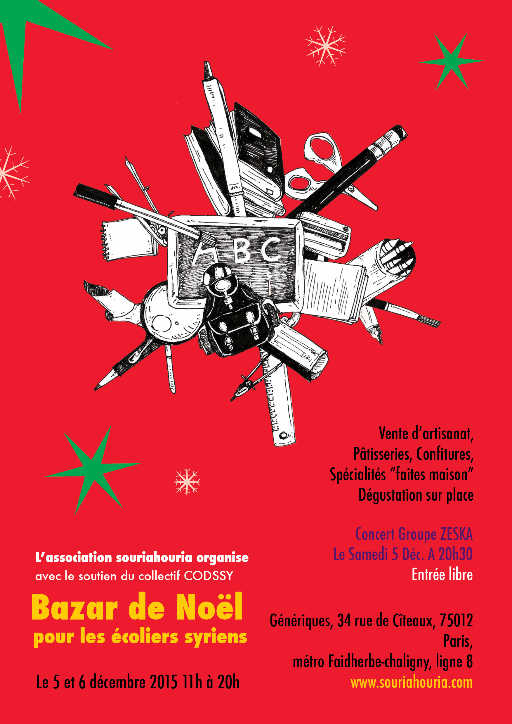 5 & 6/12/2015 Paris : Bazar de Noël
