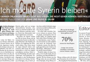 """""""Ich will Syrerin bleiben"""" - Über Flucht aus Syrien"""