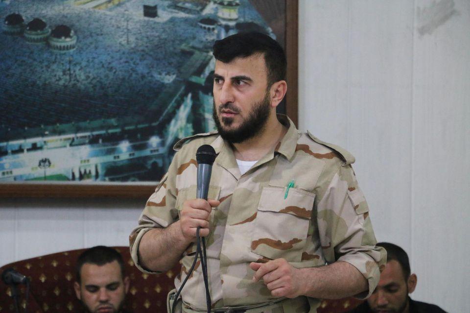 Zahran Alloush, le 21 juillet, dans son fief de Douma.