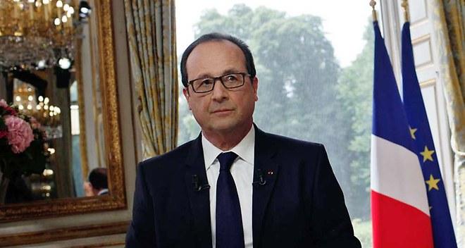 Francois Hollande reçu l'Elysée signataires d'un appel siège d'Alep, Syrie.
