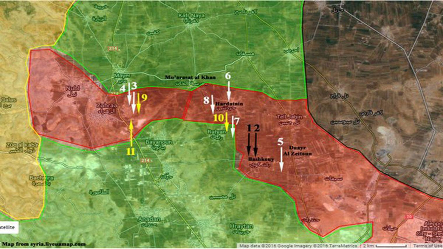 La ligne de ravitaillement au nord d'Alep est coupée, après l'offensive de l'armée syrienne.