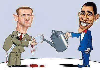 Obama Assad friends