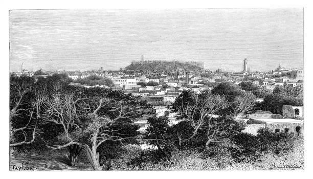 رسم مشهد من حلب في عام 1895 (Getty)