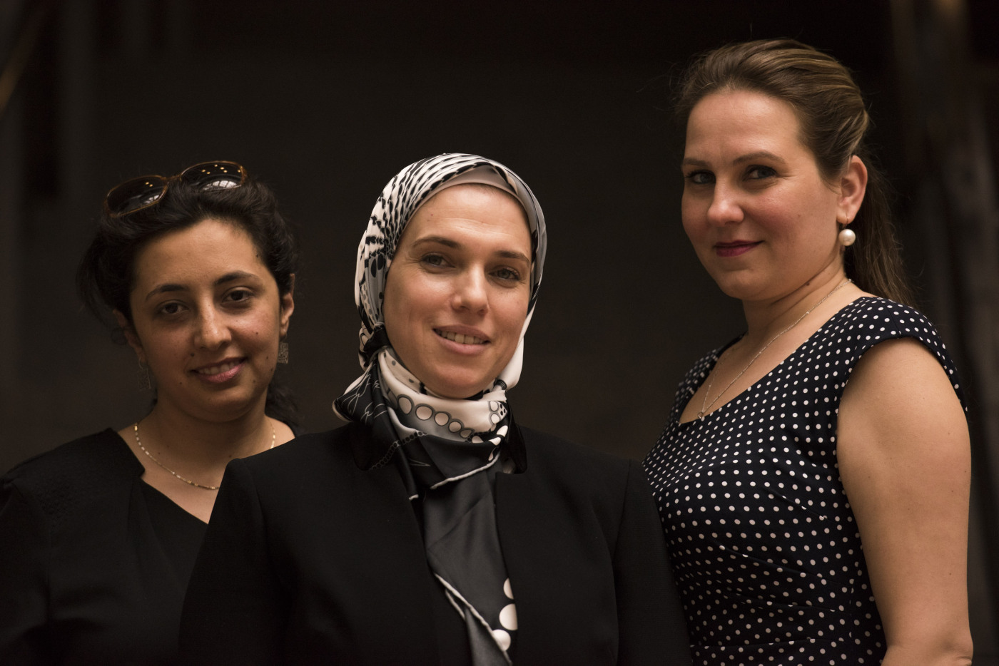 Humanitarians Mariah Abadeh, Houda Atassi and Sandra Bitarova were honored in Washington D.C. by CARE. (Carey Wagner/CARE)