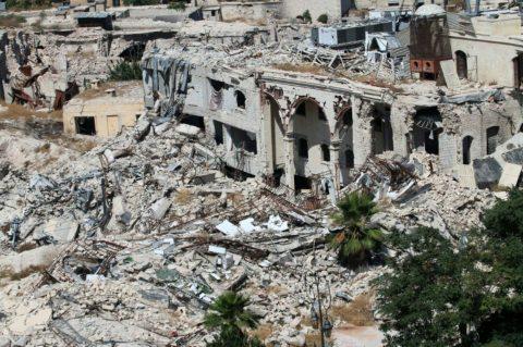 La ville d'Alep après des bombardements, le 3 juillet Photo George Ourfalian. AFP