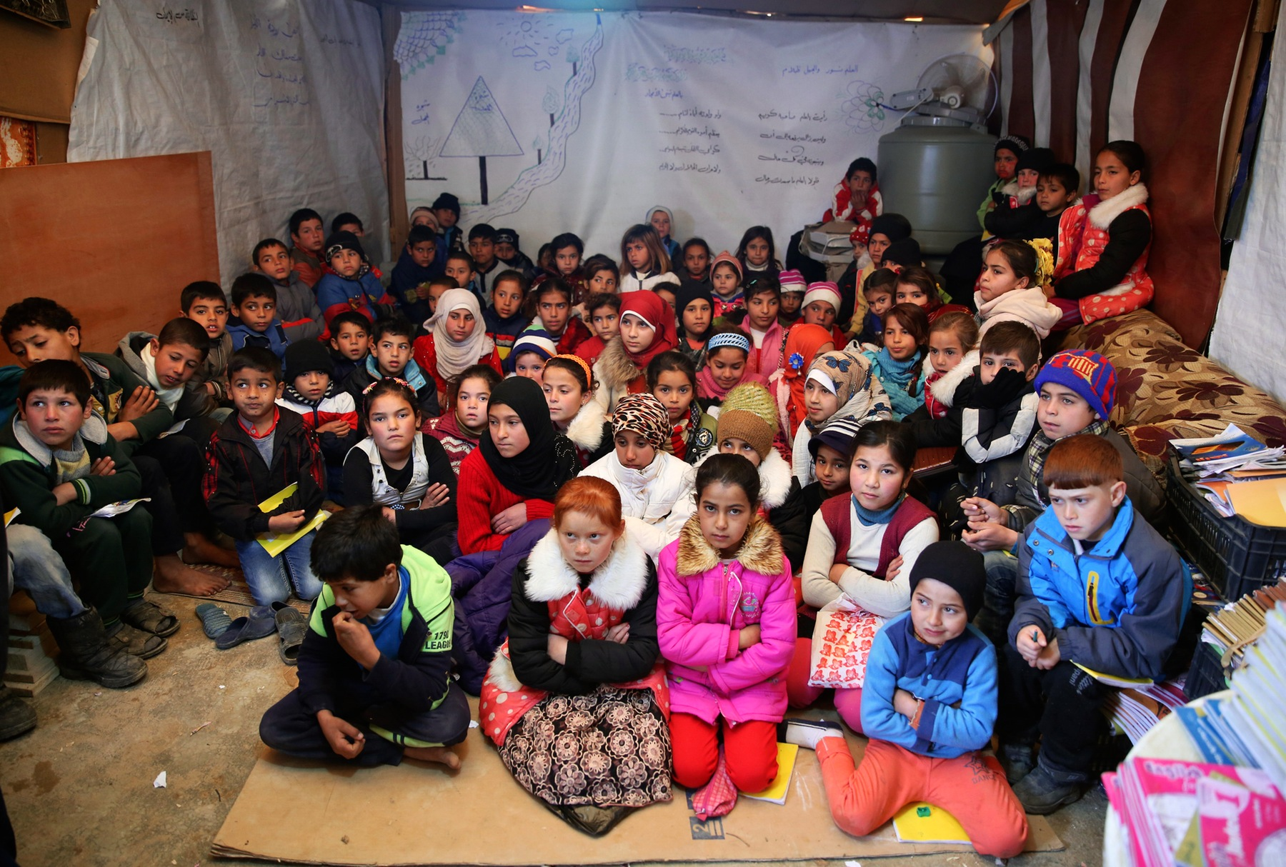 Mideast syria school age refugees