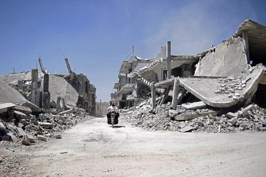 Teir Maalah, près de Homs, en avril. Loin, bien loin, de la plage de Tartous.