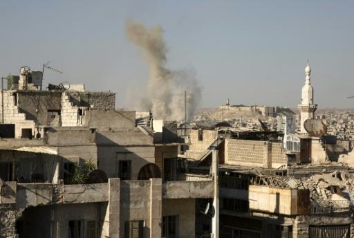 Bombardement de la ville d'Alep en Syrie, le 12 juillet 2016 © KARAM AL-MASRI AFP/Archives
