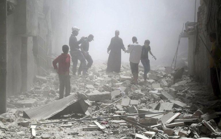 En mai 2015, dans le quartier Al-Sukkar, à Alep. Photo Hosam Katan.Reuters