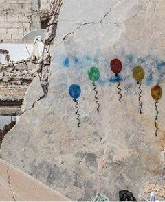 """© pacific movement team in Revolution Spring -campagne """"Peindre l'espoir en tous lieux"""""""