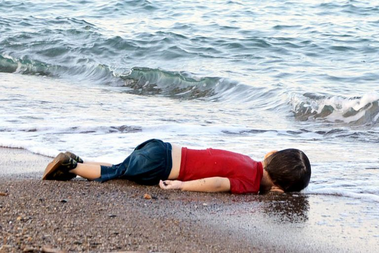 Image by Nilüfer Demir/AP. The lifeless body of Aylan Kurdi.