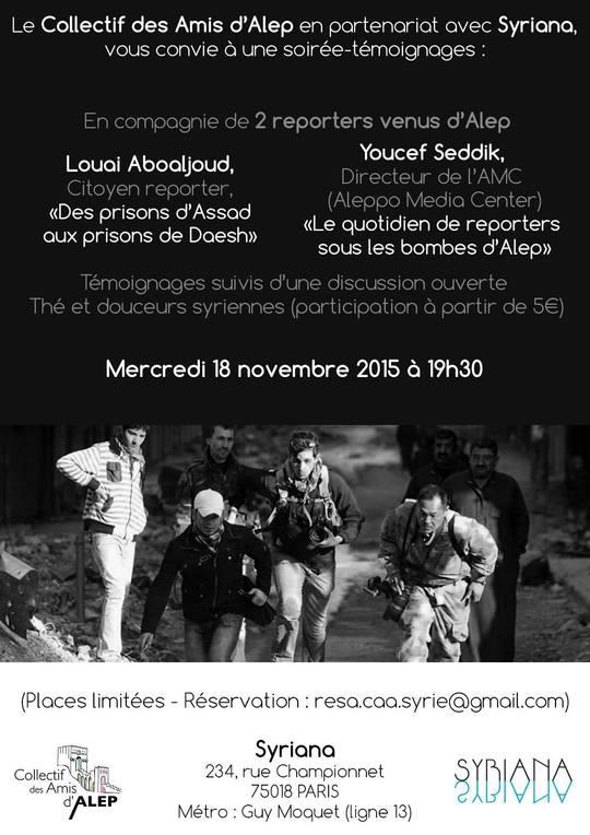 Reporters Alep Paris