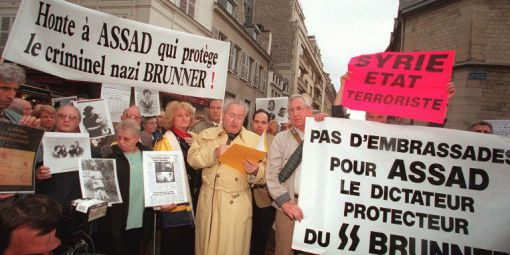 Manifestation contre venue Hafez al-Assad à Paris