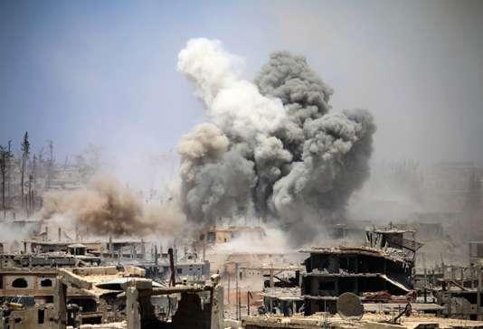 Une explosion à Deraa, en Syrie le 22 mai.