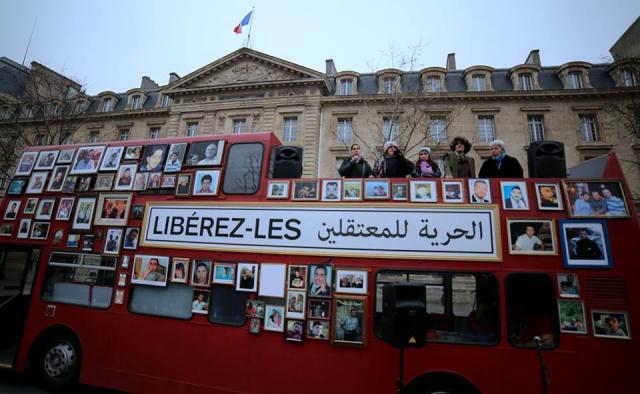 Le bus pour la liberté à Paris, le 27 janvier 2018 photo Mohammed Abdullah (Artino)